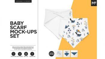 دانلود موکاپ دستمال سر بچگانه Baby Scarf Mock-ups Generator