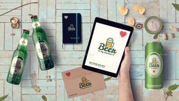 دانلود جعبه ابزار ساخت موکاپ نوشیدنی Beer & Bar Mockup & Hero Images Scene Generator