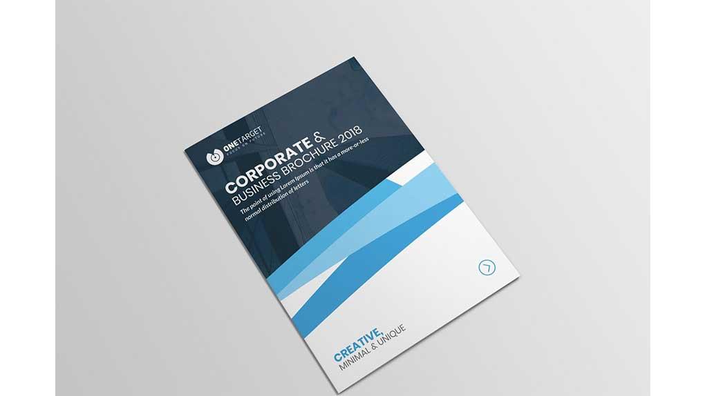 فایل لایه باز بروشور Bi-fold Brochure
