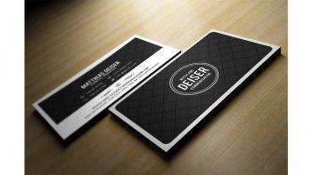 دانلود فایل لایه باز کارت ویزیت Black And White Business Card