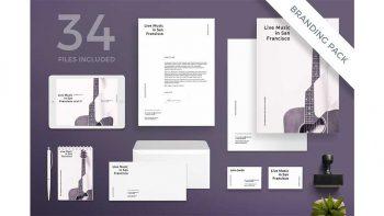 دانلود فایل لایه باز آگهی کنسرت موسیقی Branding Pack | Concert