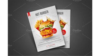 دانلود فایل لایه باز تراکت فست فود Burger Flyer Template