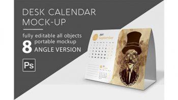 دانلود موکاپ تقویم رو میزی Calendar Mockup