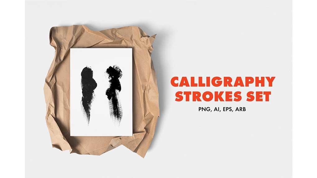 براش Calligraphy Strokes Set