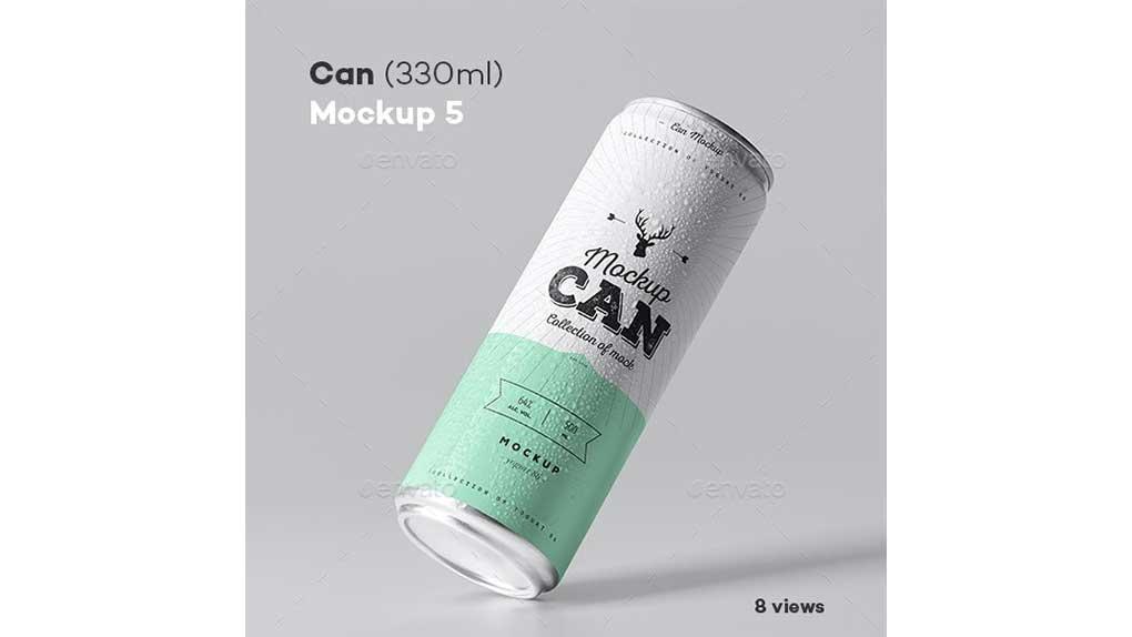 موکاپ قوطی نوشابه Can Mock-up 5