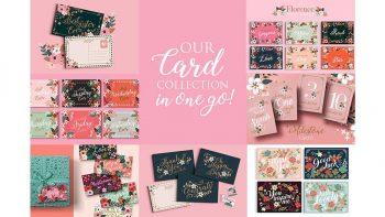 دانلود فایل لایه باز کارت دعوت Card Collection – 7 sets – 45 files