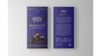 دانلود موکاپ بسته بندی شکلات Chocolate Bar Packaging Mockup