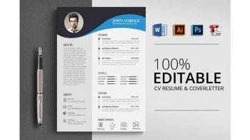 دانلود فایل لایه باز رزومه Clean Ms Word CV Resume Template