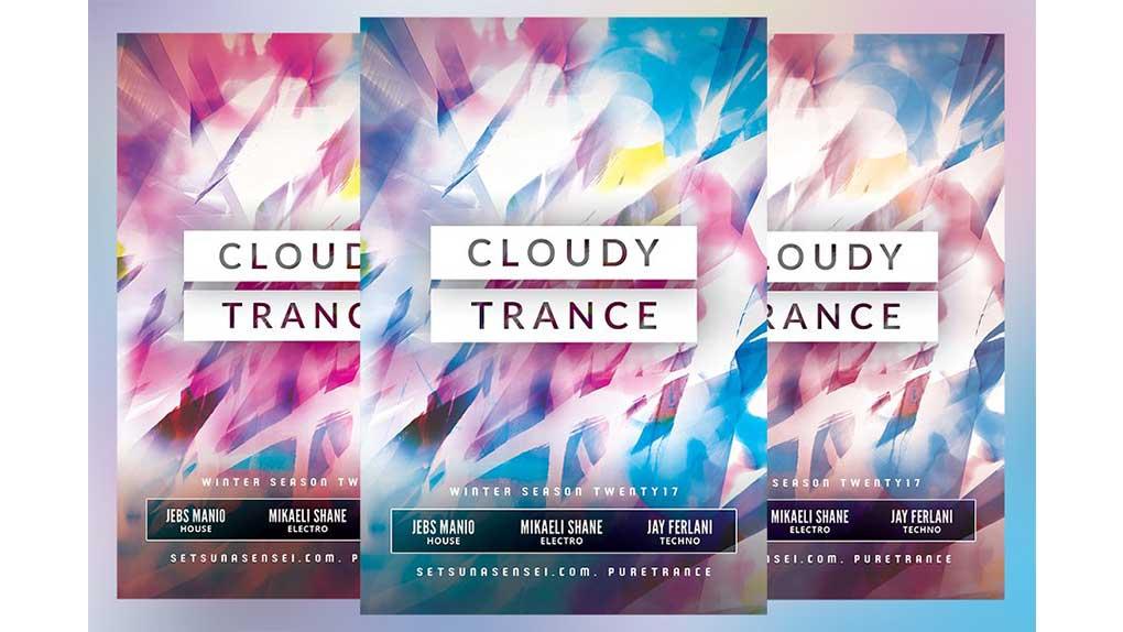 فایل لایه باز آگهی Cloudy Trance Flyer