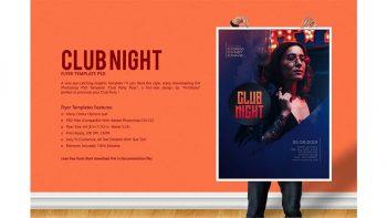 دانلود فایل لایه باز پوستر کلاب شبانه Club Night Party Flyer