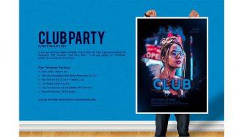 دانلود فایل لایه باز پوستر کلاب شبانهClub Party Flyer