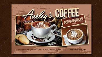 دانلود فایل لایه باز کارت تخفیف کافی شاپ Coffee Shop Rewards Card