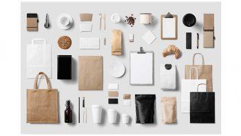 دانلود موکاپ لوازم التحریر Coffee Stationery / Branding Mock-Up