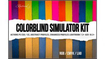 دانلود اکشن تغییر رنگ Colorblind Simulator Kit