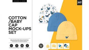 دانلود موکاپ کلاه کودک Cotton Baby Cap Mock-ups Generator