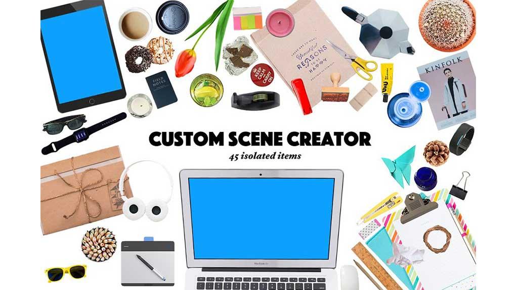 جعبه ابزار ساخت موکاپ اداری Custom Scene Creator