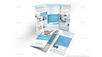 دانلود فایل لایه باز بروشور کلینیک دندانپزشکی Dentist Office Trifold Brochure