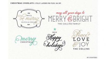 دانلود فایل لایه باز برچسب کریسمس Digital Christmas Overlays – Set 2