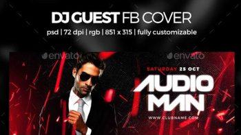 دانلود فایل لایه باز کاور فیسبوک Dj Guest Facebook Cover