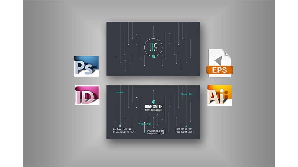 وکتور کارت ویزیت Dot Business Card