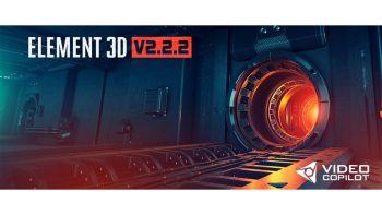 پلاگین المنت تی ری دی – Video Copilot Element 3D V2.2.2 [2169] + Content