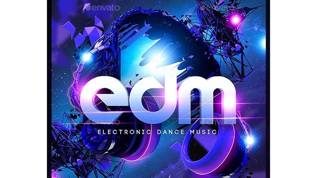 فایل لایه باز بنر EDM Electro Dj Party Flyer