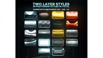 دانلود استایل فلزی برای فتوشاپ Epic Metallic Styles 2