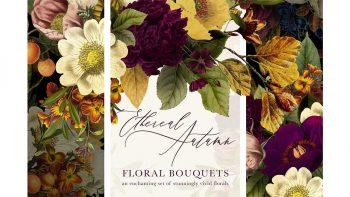 دانلود کلیپ آرت دسته گل پاییزی Ethereal Autumn Floral Bouquets