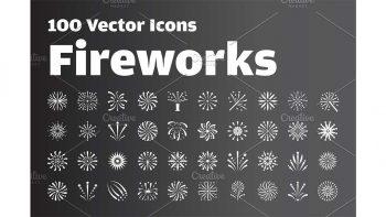 دانلود وکتور آیکون آتش بازی Fireworks Icon