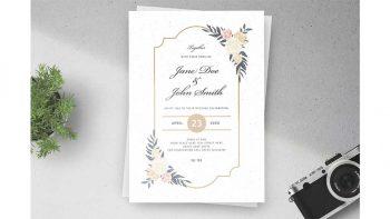 دانلود فایل لایه باز کارت دعوت عروسی Floral Wedding Invitations