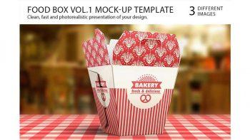 دانلود موکاپ جعبه غذا Food Box Vol.1 Mock-up Template