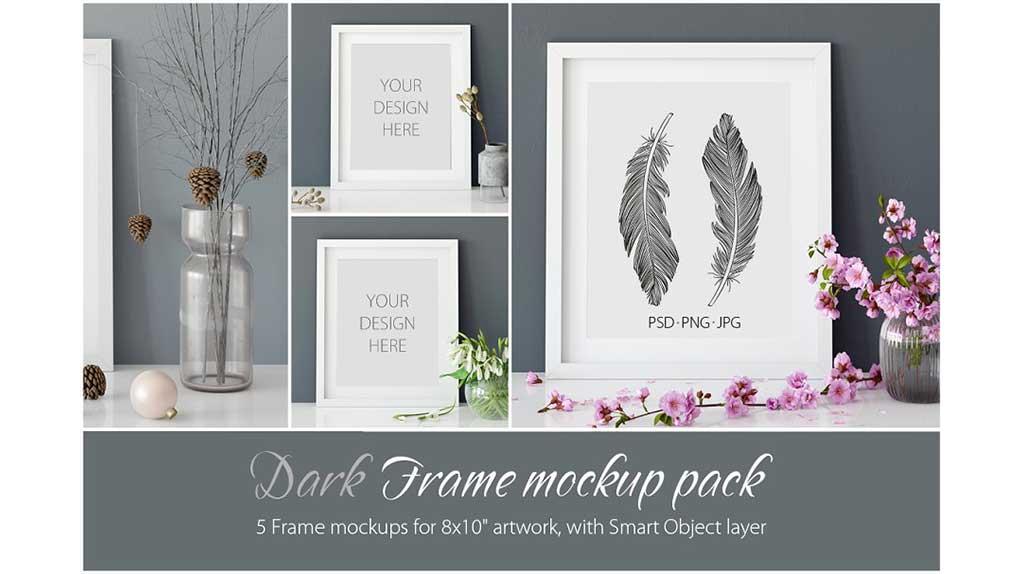 موکاپ قاب عکس Frames Mockup 8×10 – PACK
