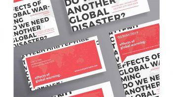 دانلود فایل لایه باز آگهی Global Warming Flyers