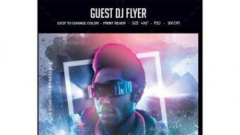 دانلود فایل لایه باز بنر Guest DJ Flyer