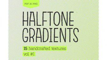 دانلود تکسچر نقطه ایی Halftone Gradients Vol.1