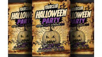 دانلود فایل لایه باز بنر جشن هالووین Halloween Party Flyer Template