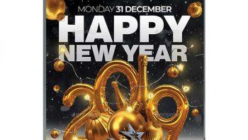 دانلود فایل لایه باز بنر سال نو میلادی Happy New Year 2019