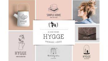 دانلود فایل لایه باز لوگو Hygge – premade logo collection