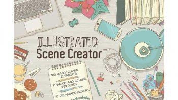 دانلود جعبه ابزار ساخت تصاویر وکتور گرافیکی Illustrated Scene Creator
