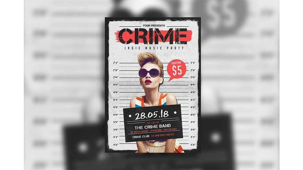 فایل لایه باز پوستر Indie Crime Poster/Flyer