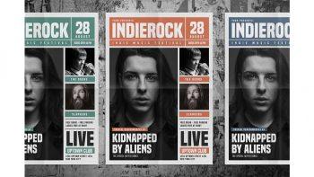 دانلود فایل لایه باز تراکت Indie Rock Newspaper Style Flyer