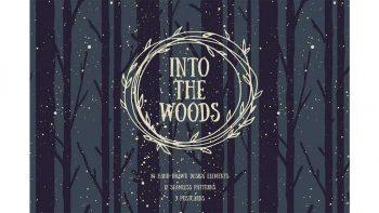 دانلود وکتور جنگل Into The Woods Set
