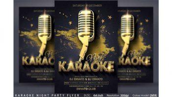 دانلود فایل لایه باز بنر Karaoke Night Party Flyer