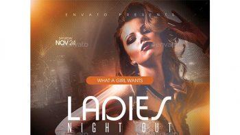 دانلود فایل لایه باز بنر کنسرت موسیقی Ladies Night Out Flyer Template