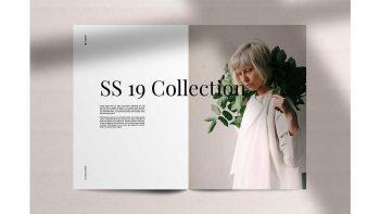 دانلود وکتور مجله مینیمال فشن LookBook Minimal Fashion Template