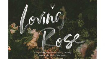 دانلود فونت انگلیسی با طرح آبرنگی Loving Rose SVG Watercolor Font Pack