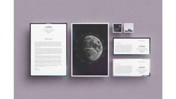 دانلود فایل لایه باز سربرگ LUMINA Letterhead + Comps