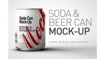 دانلود موکاپ قوطی آبجو Mini Soda Can | Beer Can Mock-Up V3