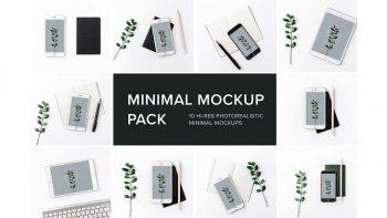 دانلود موکاپ مینیمال Minimal Mockup Pack Photorealistic