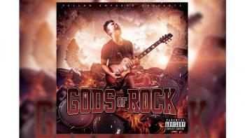 دانلود فایل لایه باز پوستر کنسرت موسیقی Mixtape Covers Art – Gods of Rock